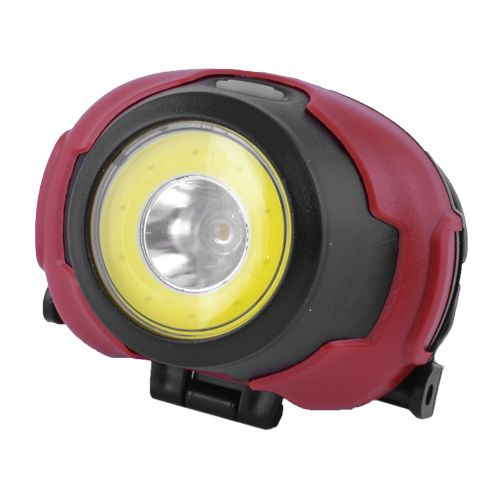 Фонарь налобный 1802-COB+LED