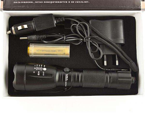 Тактический фонарь аккумуляторный Bailong Police BL-1892-T6